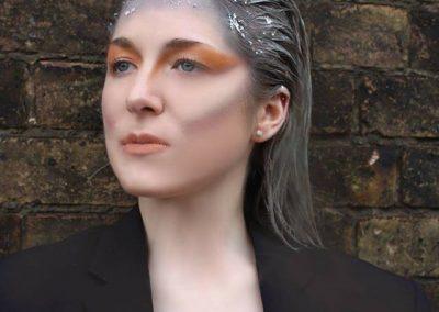 Silver Glitter Hair